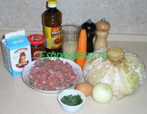 Рецепт голубцов из капусты с фаршем и рисом