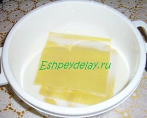 листы лазаньи в молоке