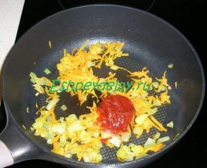 поджарка с томатной пастой