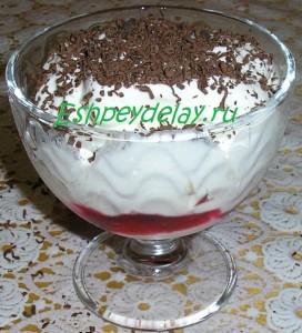 мороженое с вишневым сиропом, сливками и шоколадом