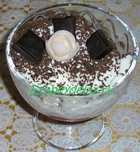 мороженое с сиропом и шоколадом