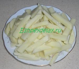 картофель для грибного супа с курицей