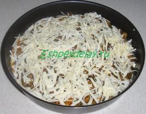 пицца с тертым сыром