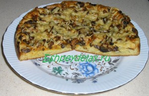 пицца с грибами в домашних условиях