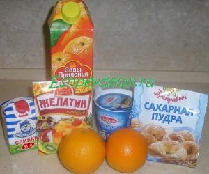 Рецепт десерта из апельсинов с маскарпоне