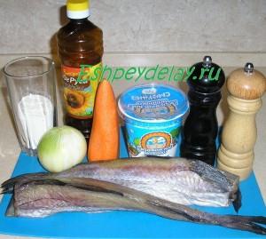 Рецепт минтая в сметанном соусе