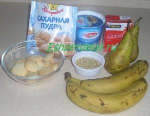 Рецепт десерта с маскарпоне и фруктами
