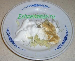 майонез, чеснок, специи для соуса