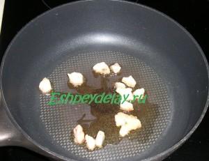 гусиный жир на сковороде