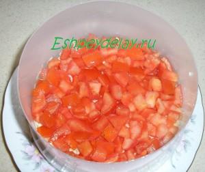 четвертый слой из помидор