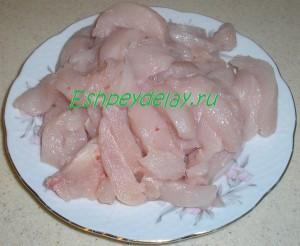 куриная грудка нарезанная полосками