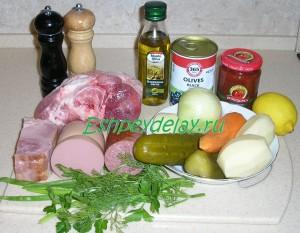 Рецепт мясной сборной солянки с картошкой