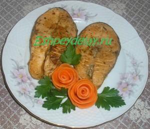 вкусные стейки семги
