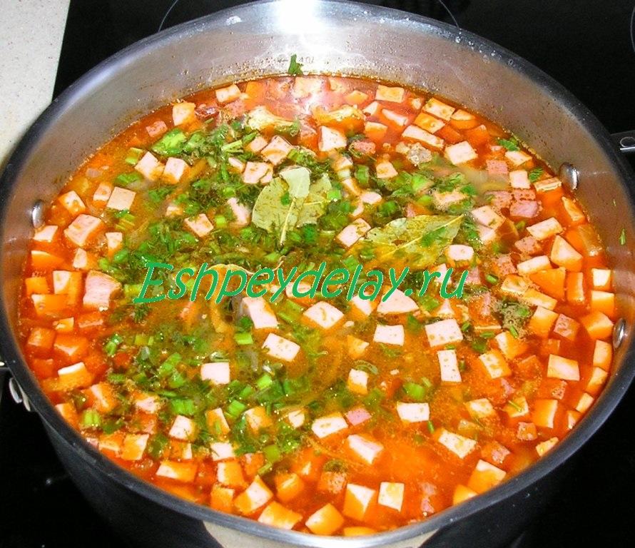 мясная солянка с картошкой пошаговый рецепт с фото