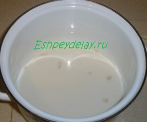 дрожжи с молоком и яйцами