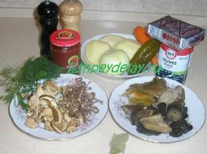 Рецепт грибной сборной солянки
