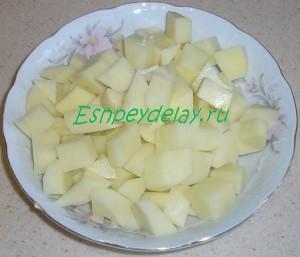 картошка для грибной солянки