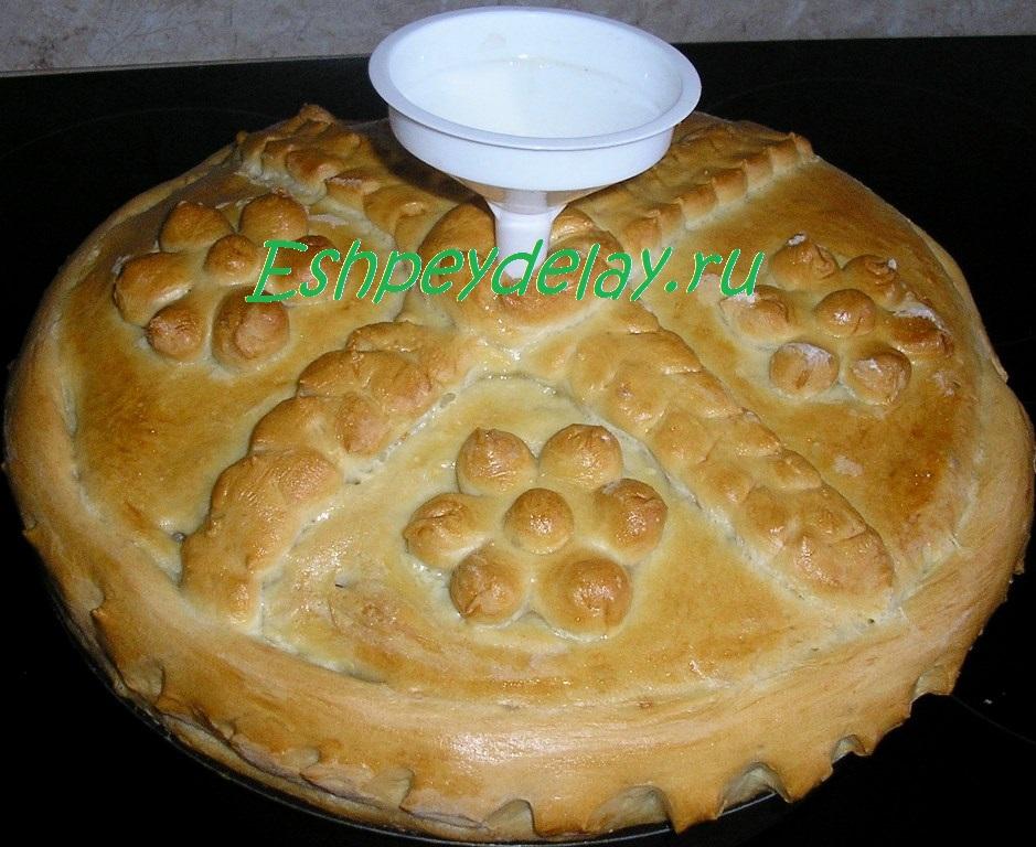 Пирог курник в духовке