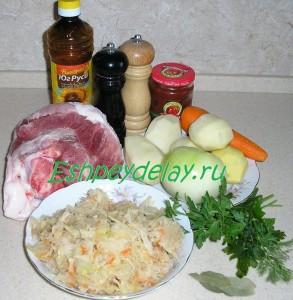 рецепт щей с квашеной капустой