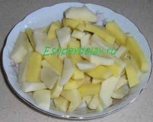 картошка брусочками для щей