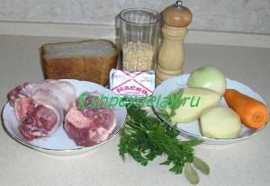 Рецепт горохового супа с гренками