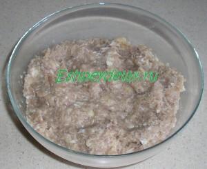 фарш для мясных зраз с грибами