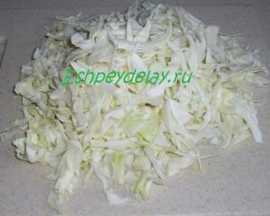 пошинкованная свежая капуста