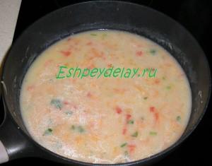 подлив с овощами для ежиков с рисом