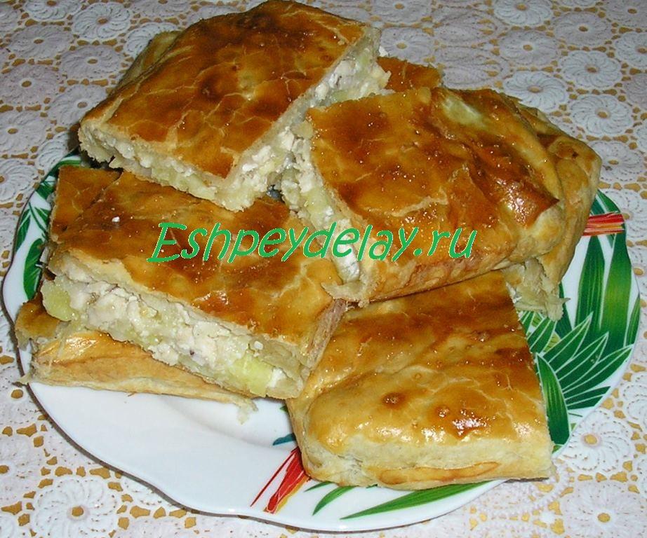 Картофельные пироги рецепты с пошагово 13