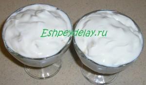 верхний слой крема с рикоттой