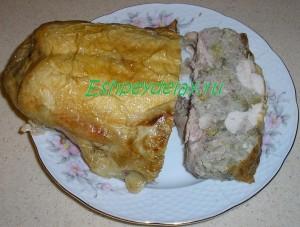 вкусная фаршированная курица без костей