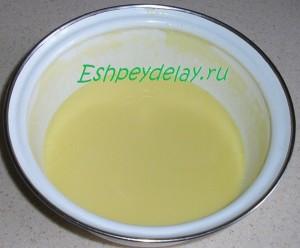 топленый маргарин в миске