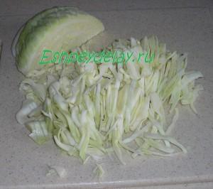 порезанная капуста
