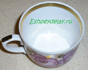 сода в чашке