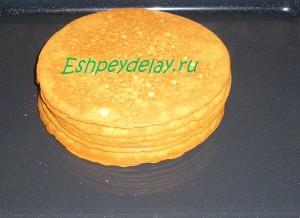 запеченные коржи для торта рыжик