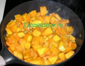 овощная обжарка для крем супа из тыквы