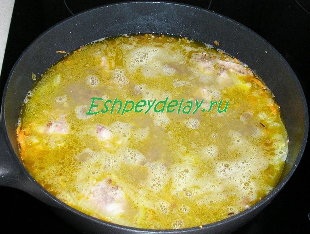 Гречка на сковороде с тушенкой рецепт с фото пошагово