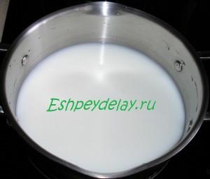 молоко с водой для супа