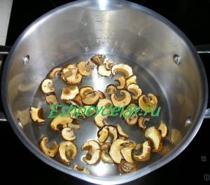 замоченные сухие грибы