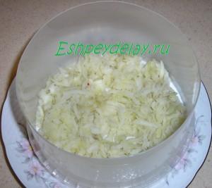 первый слой из картофеля
