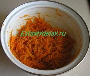 приготовленная корейская морковь