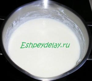 манка вареная в молоке