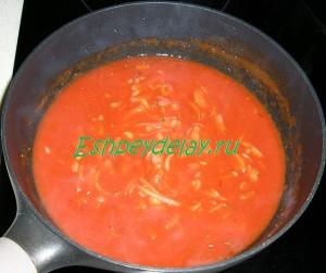соус с томатной пастой