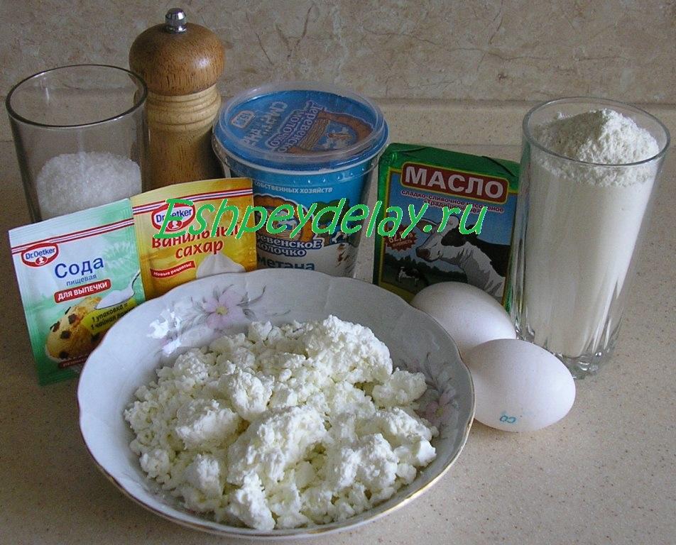 рецепт теста для торта с творогом