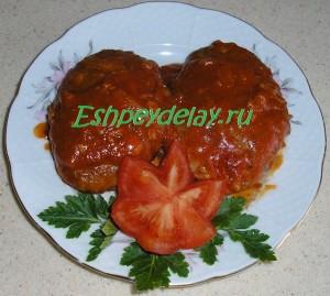 Гречаники в томатном соусе