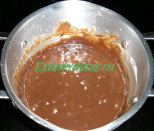 кипящий шоколад для торта
