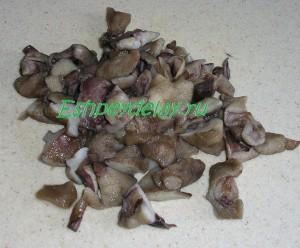 нарезанные мороженные грибы