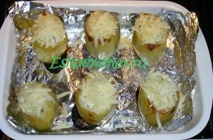 запеченный картофель фаршированный фаршем
