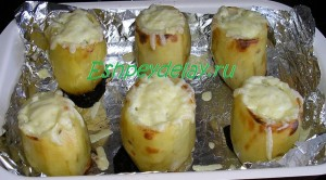картофель фаршированный фаршем в духовке