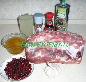 Рецепт  свинины запеченной  куском в пакете